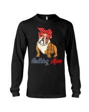 Womens Bulldog Mom Cute Bulldog With Sunglasses Long Sleeve Tee thumbnail