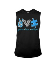 Peace Love Autism T-Shirt Sleeveless Tee thumbnail