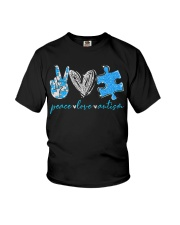 Peace Love Autism T-Shirt Youth T-Shirt thumbnail