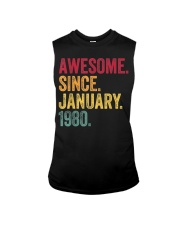 40 Years Old Awesome Since January 1980 40th Sleeveless Tee thumbnail