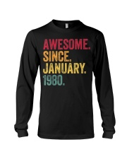 40 Years Old Awesome Since January 1980 40th Long Sleeve Tee thumbnail