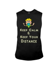 Social Distancing Keep Calm and Keep Your Sleeveless Tee thumbnail