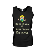Social Distancing Keep Calm and Keep Your Unisex Tank thumbnail