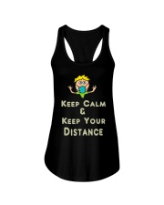 Social Distancing Keep Calm and Keep Your Ladies Flowy Tank thumbnail