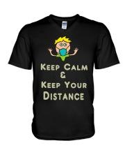 Social Distancing Keep Calm and Keep Your V-Neck T-Shirt thumbnail