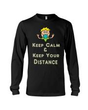 Social Distancing Keep Calm and Keep Your Long Sleeve Tee thumbnail