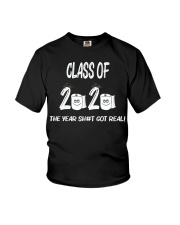 Funny Class Of 2020 The Year Shit Got Real Youth T-Shirt thumbnail