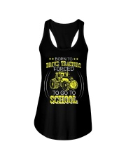 Born To Drive Tractors Forced To Go To School Ladies Flowy Tank thumbnail