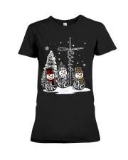 Faith Hope Love Hippie Peace Snowman Chistmas Premium Fit Ladies Tee thumbnail