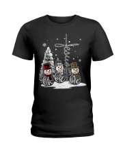 Faith Hope Love Hippie Peace Snowman Chistmas Ladies T-Shirt thumbnail