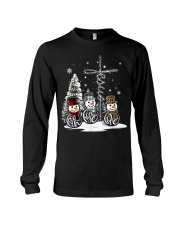 Faith Hope Love Hippie Peace Snowman Chistmas Long Sleeve Tee tile
