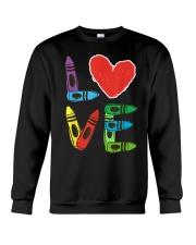 Preschool Teacher Shirts Valentines Day Boys Crewneck Sweatshirt thumbnail