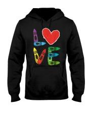 Preschool Teacher Shirts Valentines Day Boys Hooded Sweatshirt front