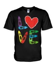 Preschool Teacher Shirts Valentines Day Boys V-Neck T-Shirt thumbnail