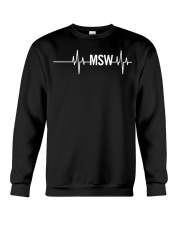 MSW Masters Social Worker Gifts Social Work Month Crewneck Sweatshirt thumbnail