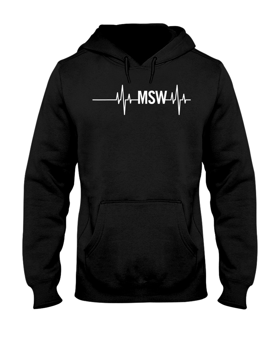 MSW Masters Social Worker Gifts Social Work Month Hooded Sweatshirt