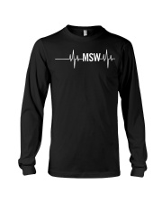 MSW Masters Social Worker Gifts Social Work Month Long Sleeve Tee thumbnail