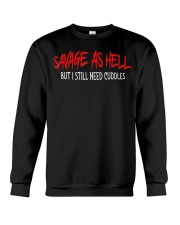 Savage As Hell Viking But I Still Need Cuddles Crewneck Sweatshirt thumbnail