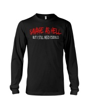 Savage As Hell Viking But I Still Need Cuddles Long Sleeve Tee thumbnail