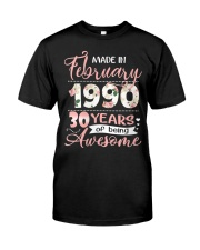 Made In February 1990 30 Yrs Old 30th Birthday Classic T-Shirt thumbnail