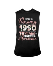 Made In February 1990 30 Yrs Old 30th Birthday Sleeveless Tee thumbnail