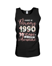 Made In February 1990 30 Yrs Old 30th Birthday Unisex Tank thumbnail