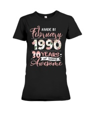 Made In February 1990 30 Yrs Old 30th Birthday Premium Fit Ladies Tee thumbnail