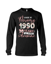 Made In February 1990 30 Yrs Old 30th Birthday Long Sleeve Tee thumbnail