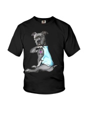 Funny Dog Pitbull I Love Mom Tattoo Gift T-Shirt Youth T-Shirt thumbnail