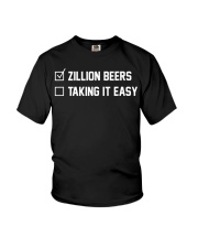 Barstool Sports Zillion Beers Taking It Easy Youth T-Shirt thumbnail