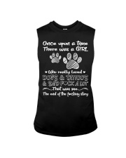 There Was A Girl Who Really Loved Dogs And Tattoo Sleeveless Tee thumbnail