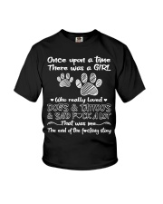 There Was A Girl Who Really Loved Dogs And Tattoo Youth T-Shirt thumbnail