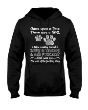 There Was A Girl Who Really Loved Dogs And Tattoo Hooded Sweatshirt front