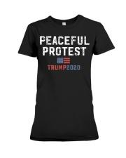 Trump Rally Gear Trump Peaceful Protest T-Shirt Premium Fit Ladies Tee thumbnail