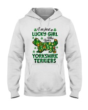 Just a lucky girl who loves Yorkshire Terrier Hooded Sweatshirt tile