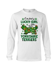 Just a lucky girl who loves Yorkshire Terrier Long Sleeve Tee thumbnail