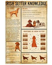 IRISH SETTER Knowledge 11x17 Poster front
