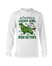 Just a lucky girl who loves Irish Setter Long Sleeve Tee tile