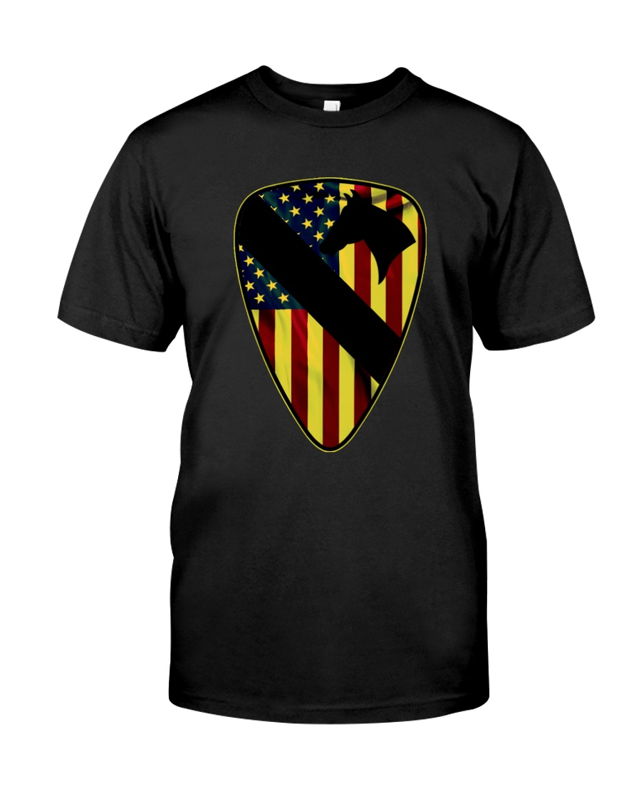 1st Cavalry Division with flag Classic T-Shirt