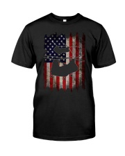 CH-46 and Flag Classic T-Shirt front
