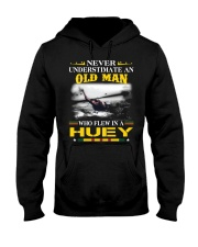 OLD MAN-WHO FLEW IN A HUEY Hooded Sweatshirt thumbnail