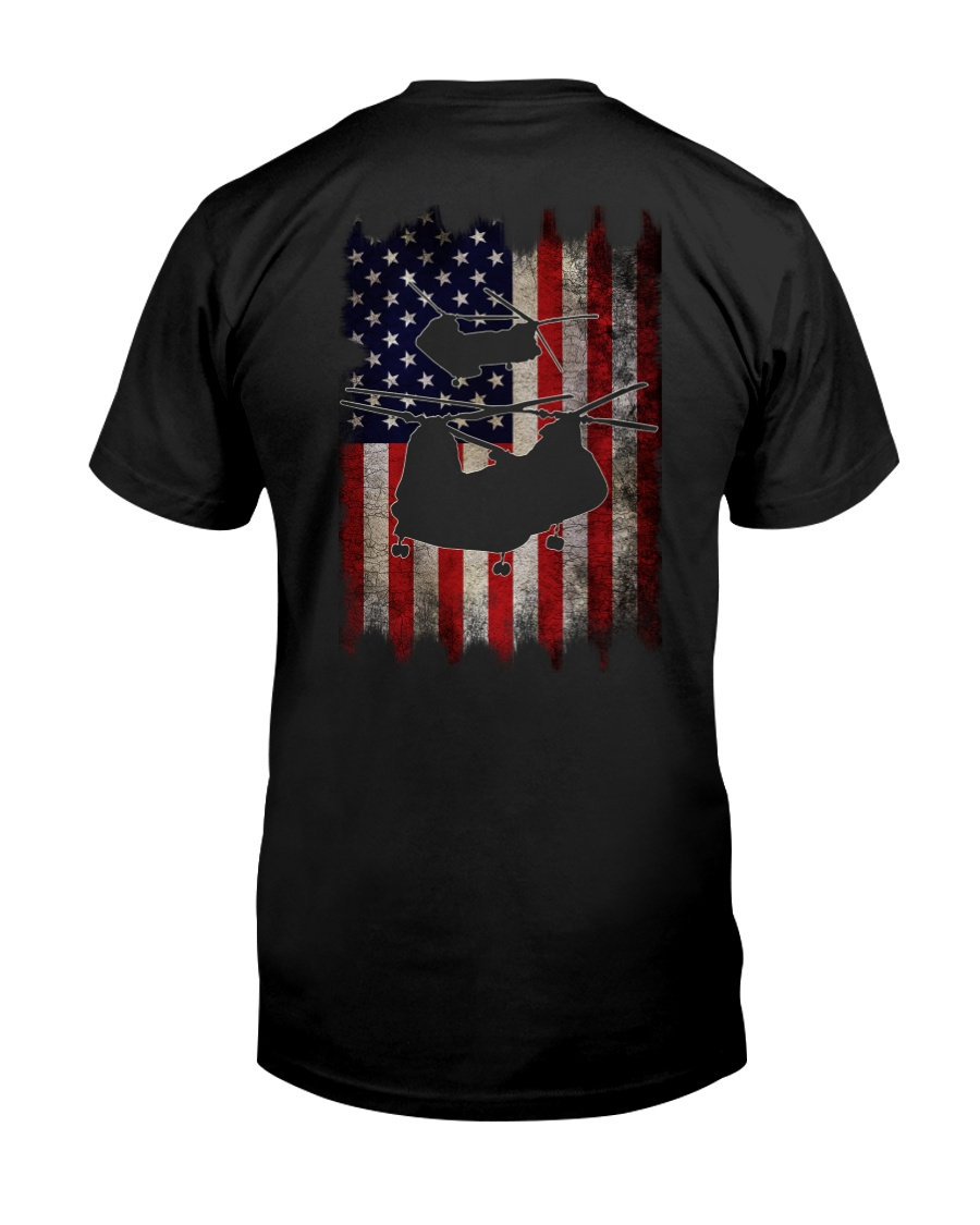 CH-46 and Flag Classic T-Shirt