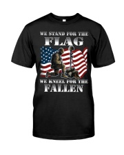 WE STAND FOR THE FLAG-WE KNEEL FOR THE FALLEN Classic T-Shirt front