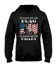 WE STAND FOR THE FLAG-WE KNEEL FOR THE FALLEN Hooded Sweatshirt thumbnail