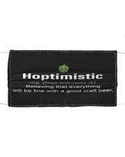 Hoptimistic Beer Cloth face mask front