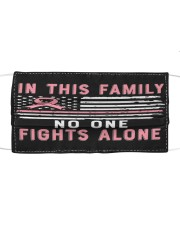LH No One Fights Alone Cloth face mask front