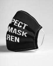 Respect the mask karen Cloth face mask aos-face-mask-lifestyle-21