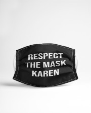 Respect the mask karen Cloth face mask aos-face-mask-lifestyle-22