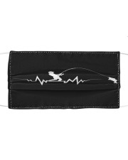 Fishing Heartbeat Cloth face mask front