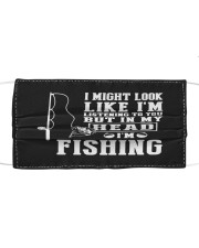 I am fishing Cloth face mask front